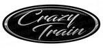 4-Pack Chrome/Black Crazy Train Peterbilt Emblem Skins