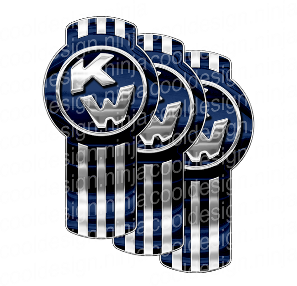 Dark Blue Kenworth Emblem Skin Kit