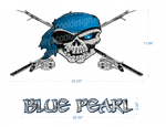 Vagas Blue Pearl Boat Decals