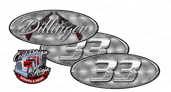 Dillinger Engine Turned Peterbilt Emblem Skins