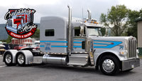 Blue-White-Black Fallen Arrow Peterbilt Stripe Kit