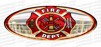 3-Pack Fire Department Peterbilt Emblem Skins