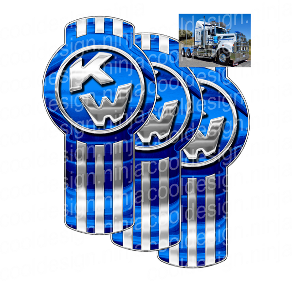Fletch Blue Kenworth Emblem Skin Kit