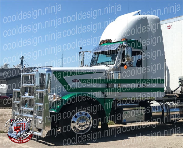 Under Overhook Peterbilt Stripe Kit