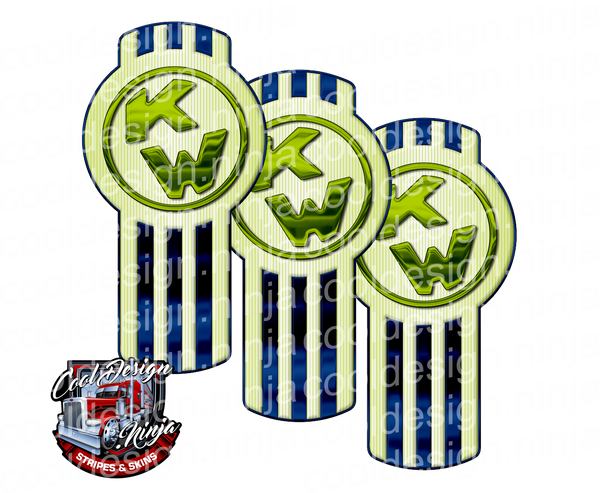 Global Green Blue Kenworth Emblem Skin Kit