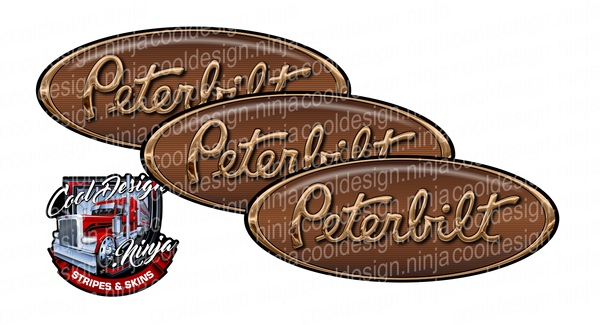 Golden Bear Peterbilt Emblem Skins