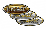 Gold and Chrome Peterbilt Emblem Skins