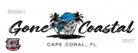 Gone Coastal Boat Decal