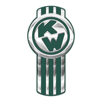 Chrome/Dark Green Kenworth Emblem Skins x 3