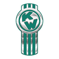 Chrome/Green Kenworth Emblem Skins x 3