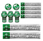 Green Kenworth W900 Interior Emblem Skins