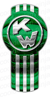 3-Pack Green/Chrome Kenworth Emblem Skins