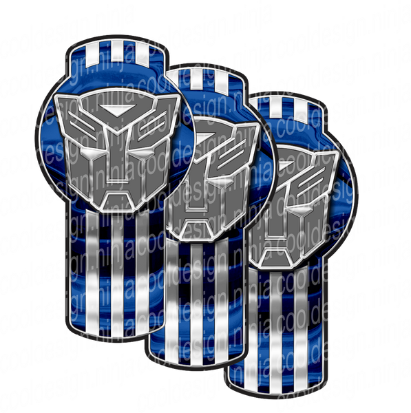 TruckBots Blue Grey Kenworth Emblem Skin Kit