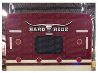 "Hard Ride Bull Skull Bunk Decal 51"" x 12"""