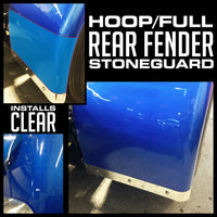 "12"" Fender Stone Guard - Fiberglass Rear Full/Hoop Fender"