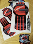 In-Stock Special - Red/Dark Grey Cummins T680 Kenworth Emblem Skins