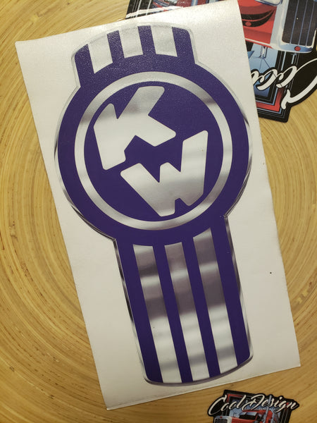 In-Stock Special - Royal Purple and Chrome Kenworth Emblem Skin