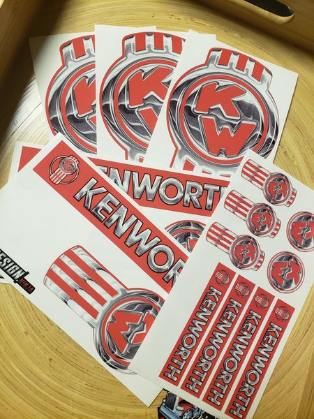In-Stock Special - Full Faded Red Kenworth Emblem Skin Kit
