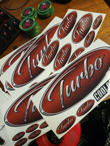 In-Stock Special - Burgundy Turbo Peterbilt Full Interior Exterior Emblem Skin Kit