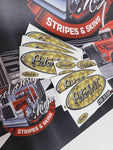 In-Stock Special - Silver Engine Turned Peterbilt Emblem Skin Full Interior Exterior Kit