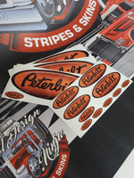 In-Stock Special - Black and Orange Fade Peterbilt Emblem Skin Kit - Daycab Interior/Exterior
