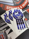 In-Stock Special - Number 66 Blue Kenworth Emblem Skin W9 Hood Kit