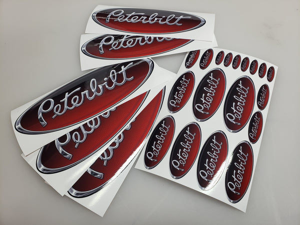 In-Stock Special - Red/Black/Chrome Peterbilt Emblem Skins