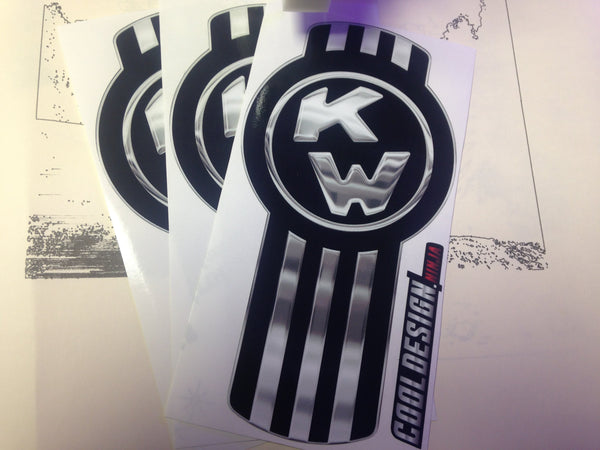 In-Stock Special - 3-Pack Black/Chrome Kenworth Emblem Skins