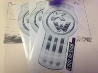 In-Stock Special - 3-Pack White/Chrome Kenworth Emblem Skins