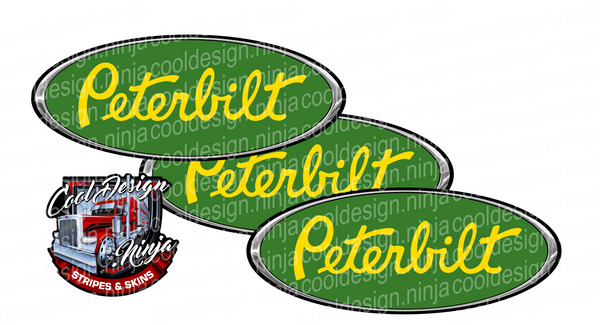 Green and Yellow Peterbilt Emblem Skins