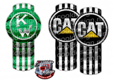 Green Kenworth CAT Mixer Emblem Skin Kit