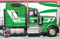 Full White Vintage Takeoff Kenworth Stripe