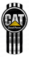 3-Pack CAT Diesel Power Kenworth Emblem Skin
