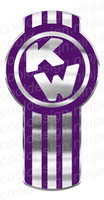 Chrome/Royal Purple Kenworth Emblem Skins x 3