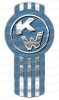 Medium Faded Blue Kenworth Emblem Skins x 3