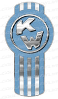 Light Faded Blue Kenworth Emblem Skins x 3