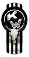 3-Pack of Kenworth Bull Skull Emblem Skins
