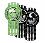 Gradient Green and Black Kenworth Emblem Skin Kit