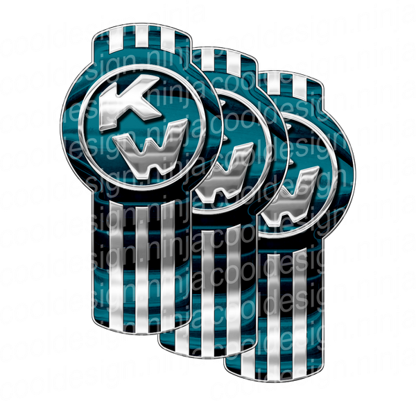 Light and Dark Teal Kenworth Emblem Skin Kit