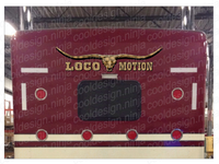 "Loco Motion Bull Skull Bunk Decal 51"" x 12"""
