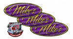 Mikes Purple and Yellow Peterbilt Emblem Skins