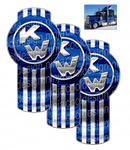 Number 66 Blue Kenworth Emblem Skin Kit