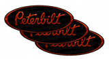 Orange and Black Peterbilt Emblem Skins