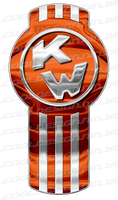 3-Pack Orange Kenworth Emblem Skins