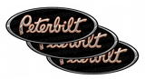 Orange Black Chrome Peterbilt Emblem Skins
