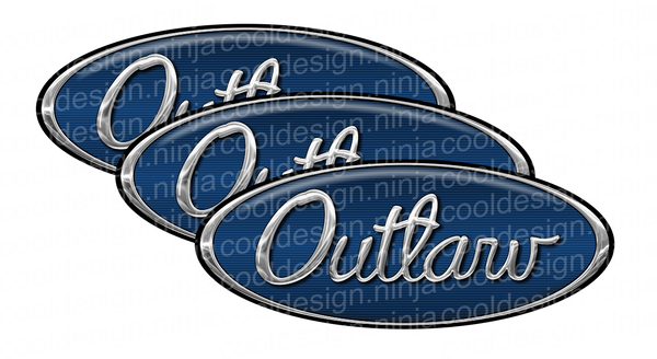 Dark Blue Outlaw Peterbilt Emblem Skins