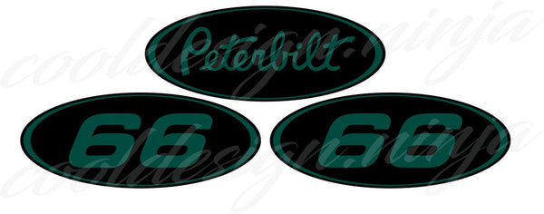 Dark Green Peterbilt Emblem Skins with #66 side logos