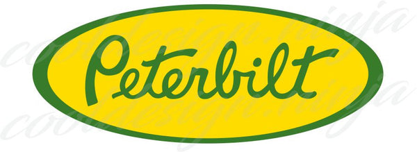 Peterbilt Emblem Skins - Green and Yellow x 3