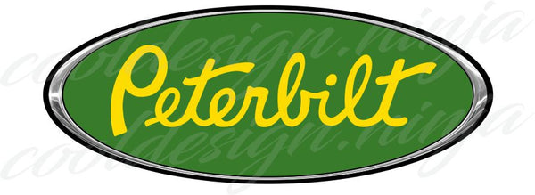 Peterbilt Emblem Skins - Chrome Green and Yellow x 3