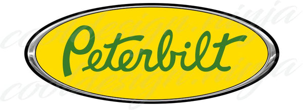 Peterbilt Emblem Skins - Chrome Yellow and Green x 3